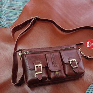 کیف کمری اسپرت سه جیب مردانه
