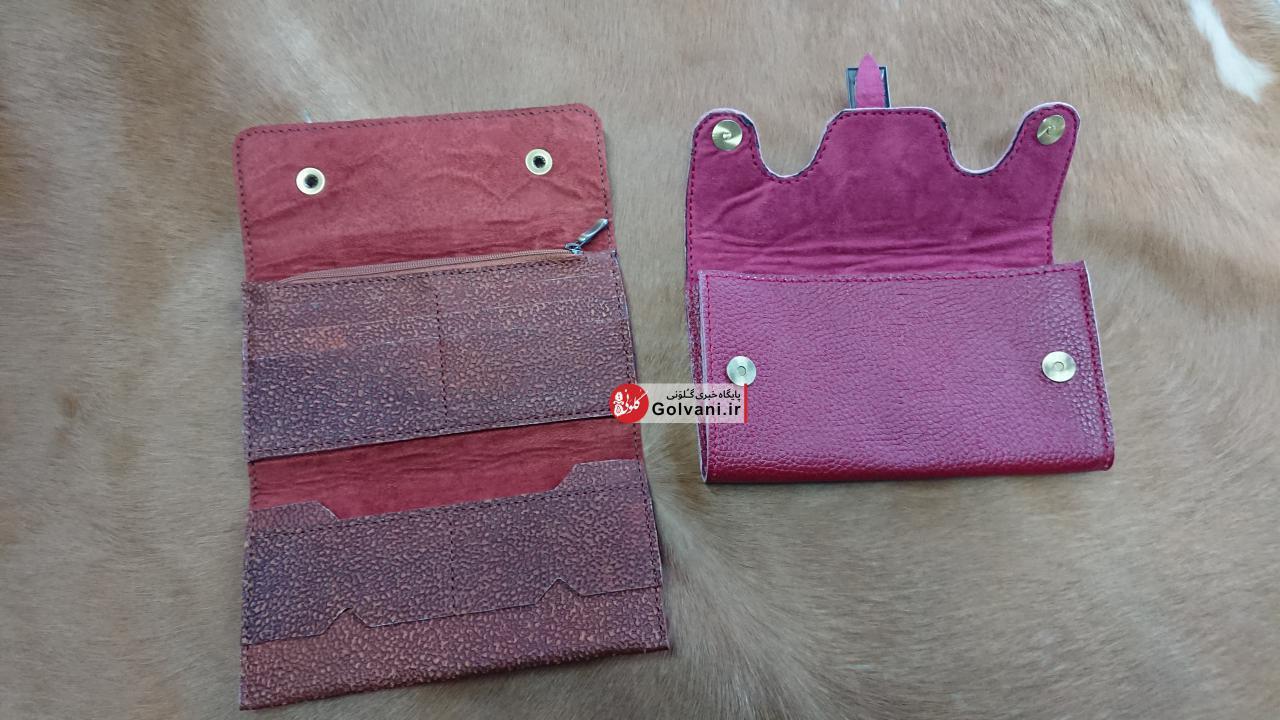کیف پول چرم بزی زنانه