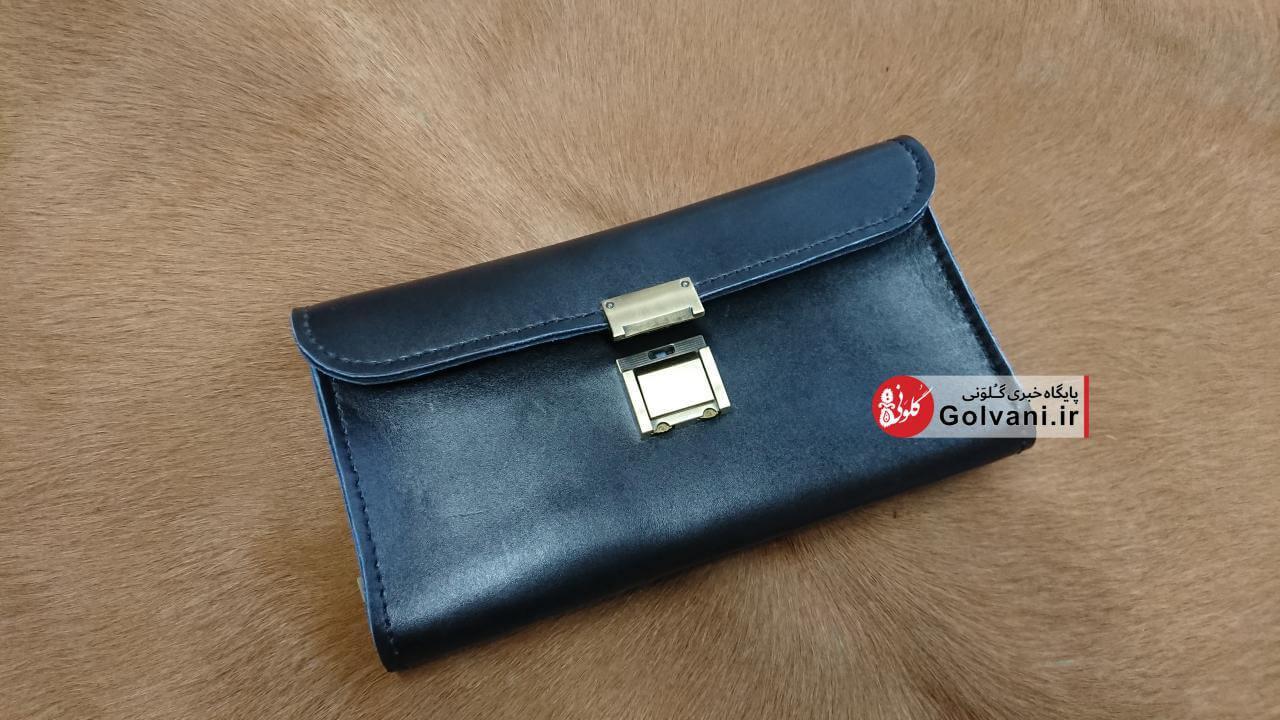 کیف مردانه رمزدار چرمی