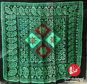 روسری طرح لوزی سبز
