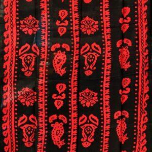 شال قرمز طرح سنتی